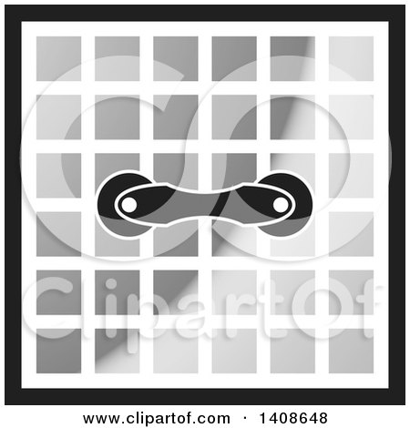 Clipart of a Handle on Tiles - Royalty Free Vector Illustration by Lal Perera