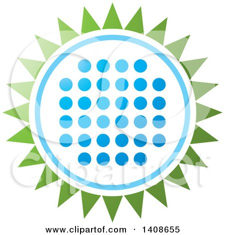 Clipart of a LED Light Design in the Shape of a Flower or Sun - Royalty Free Vector Illustration by Lal Perera