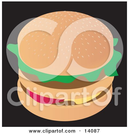 Tasty Double Cheeseburger Food Posters, Art Prints