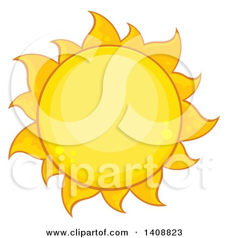 Clipart of a Yellow Summer Time Sun - Royalty Free Vector Illustration by Hit Toon
