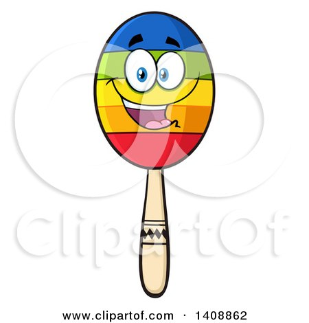 Clipart of a Maraca Character - Royalty Free Vector Illustration by Hit Toon