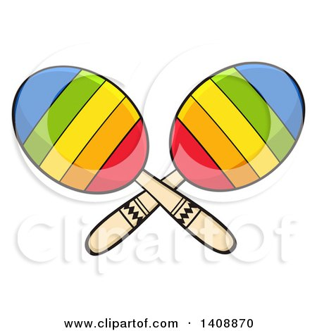 Clipart of a Pair of Maracas - Royalty Free Vector Illustration by Hit Toon