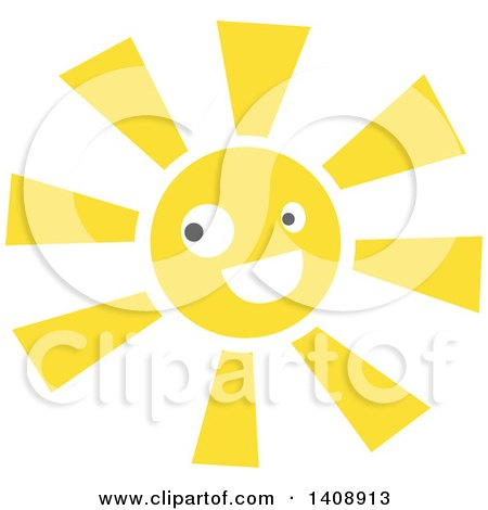 Clipart of a Happy Sun Character - Royalty Free Vector Illustration by Melisende Vector