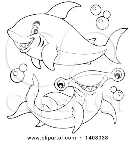 Clipart of a Black and White Lineart - Royalty Free Vector Illustration by visekart