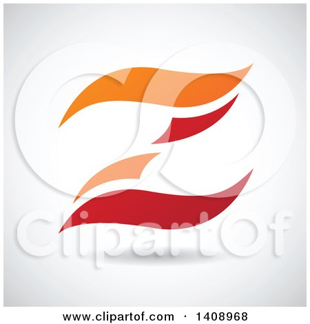 Clipart of a Wavy Letter Z Abstract Design - Royalty Free Vector Illustration by cidepix