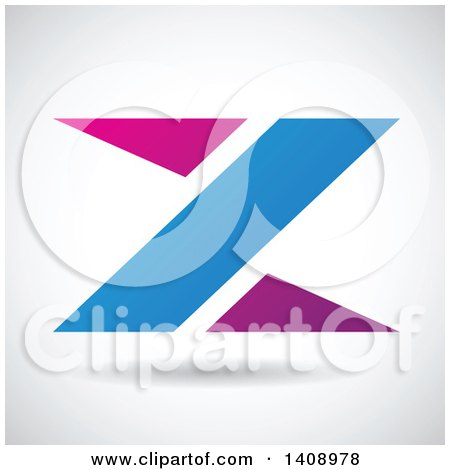 Clipart of a Triangular Letter Z Abstract Design - Royalty Free Vector Illustration by cidepix