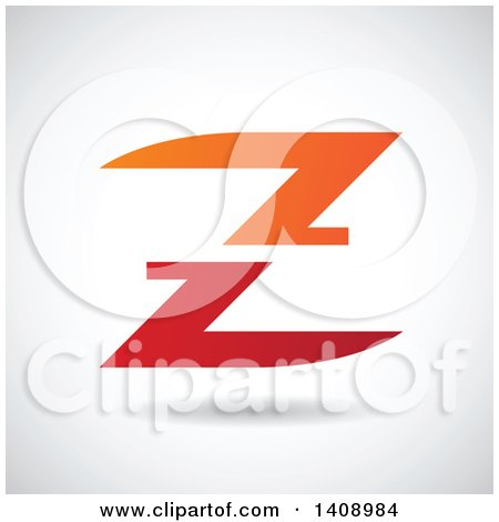 Clipart of a Split Letter Z Abstract Design - Royalty Free Vector Illustration by cidepix