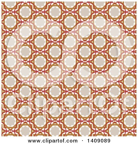 Clipart of a Vintage Arabic Pattern Background - Royalty Free Vector Illustration by KJ Pargeter