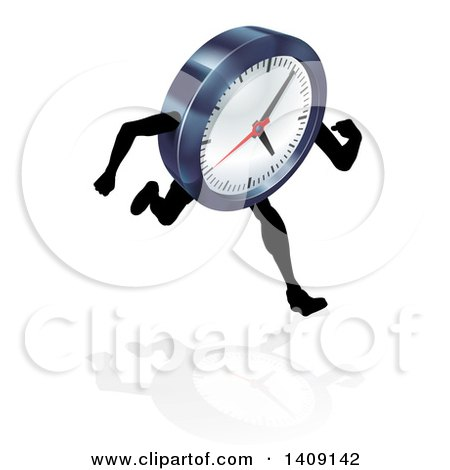Royalty Free Rf Running Out Of Time Clipart