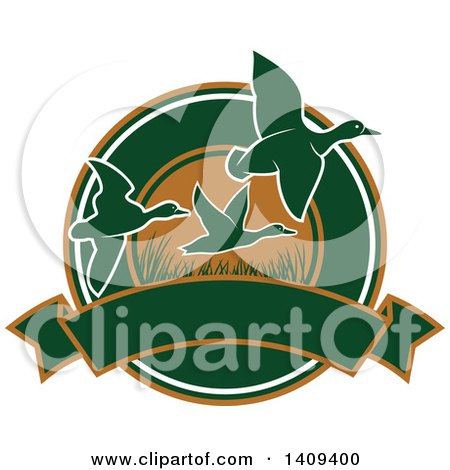 Clipart of a Duck Hunting Design - Royalty Free Vector Illustration by Vector Tradition SM
