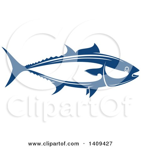 Clipart of a Tuna Fish Seafood Design - Royalty Free Vector Illustration by Vector Tradition SM