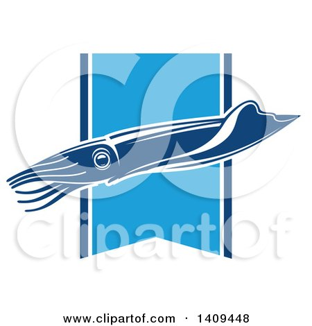 Clipart of a Squid Seafood Design - Royalty Free Vector Illustration by Vector Tradition SM