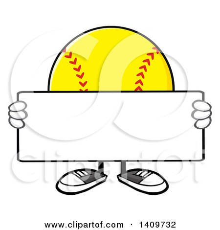 Clipart of a Cartoon Male Softball Character Mascot Holding a Bat ...