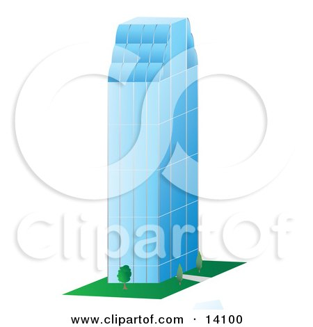 Tall Glass Skyscraper Clipart Illustration by Rasmussen Images