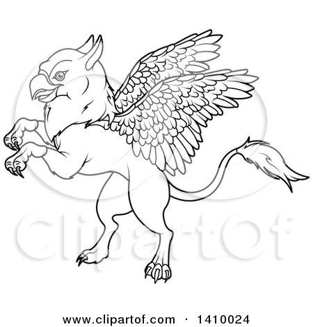 free griffon coloring pages | Royalty Free Stock Illustrations of Griffins by Pushkin Page 1