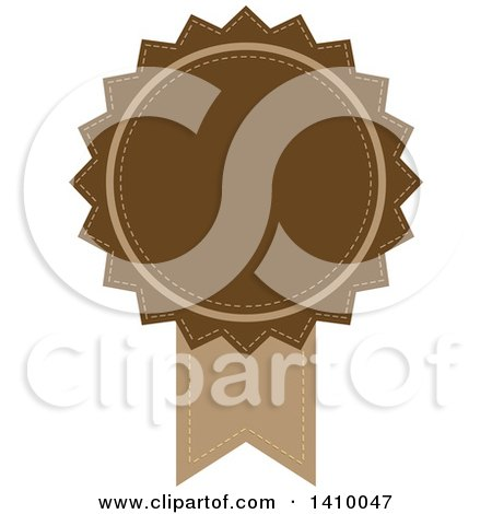 Clipart of a Brown Ribbon Award Design Element - Royalty Free Vector Illustration by dero