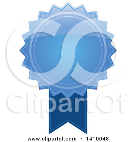Clipart of a Blue Ribbon Award Design Element - Royalty Free Vector Illustration by dero