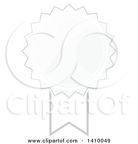 Clipart of a White Ribbon Award Design Element - Royalty Free Vector Illustration by dero