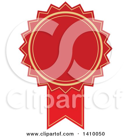 Clipart of a Red Ribbon Award Design Element - Royalty Free Vector Illustration by dero