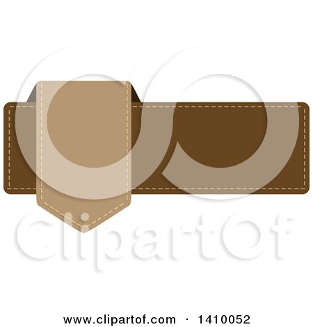 Clipart of a Brown Banner Design Element - Royalty Free Vector Illustration by dero