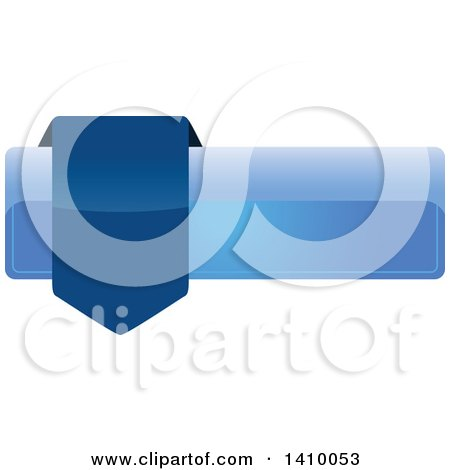 Clipart of a Blue Banner Design Element - Royalty Free Vector Illustration by dero