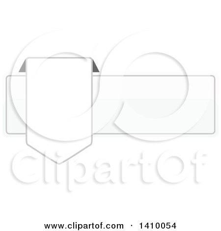 Clipart of a White Banner Design Element - Royalty Free Vector Illustration by dero