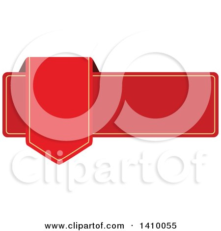 Clipart of a Red Banner Design Element - Royalty Free Vector Illustration by dero