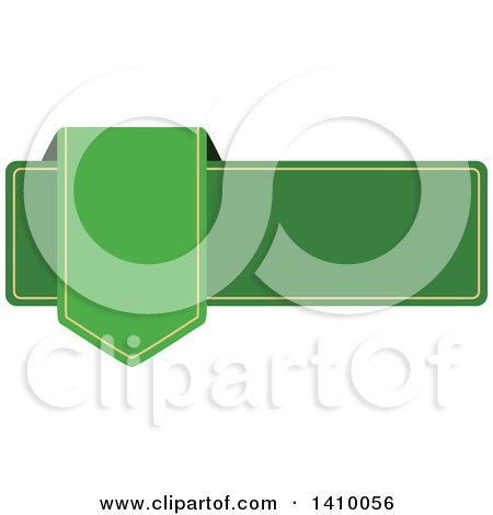 Clipart of a Green Banner Design Element - Royalty Free Vector Illustration by dero