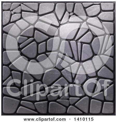 Clipart of a Background of Metallic Pebbles - Royalty Free Illustration by KJ Pargeter