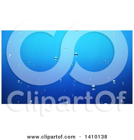 Clipart of a 3d Background of Bubbles Underwater - Royalty Free Illustration by Julos