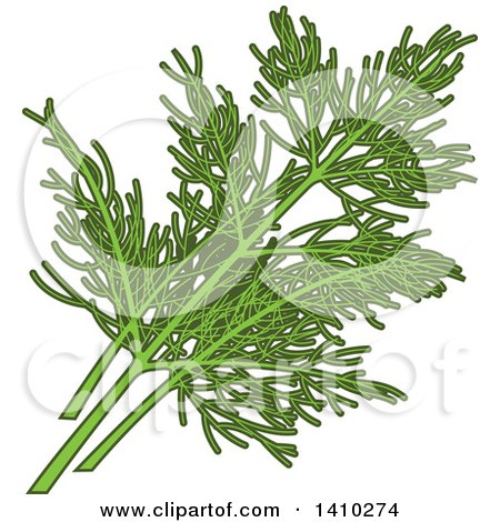 Clipart of a Culinary Herb Spice - Dill - Royalty Free Vector Illustration by Vector Tradition SM