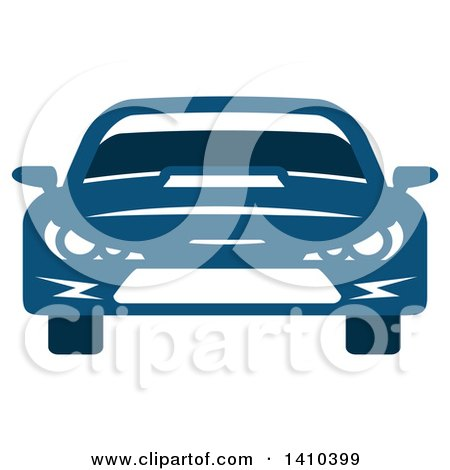 Clipart of a Blue Sports or Race Car - Royalty Free Vector Illustration by Vector Tradition SM