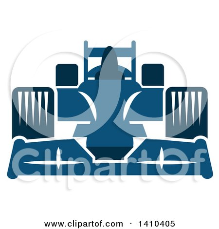 Clipart of a Blue Race Car - Royalty Free Vector Illustration by Vector Tradition SM