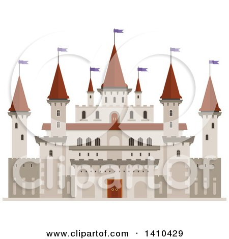 Clipart of a Castle - Royalty Free Vector Illustration by Vector Tradition SM