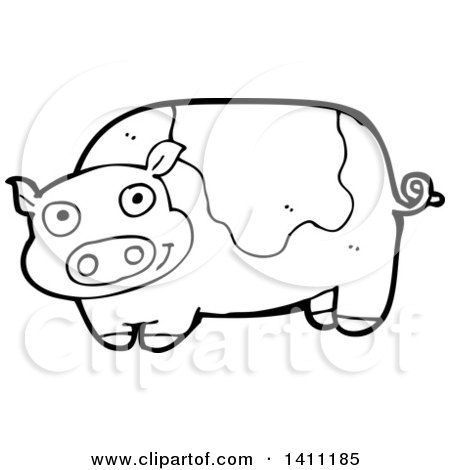 Royalty Free Stock Illustrations of Pigs by lineartestpilot Page 1