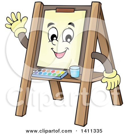 Royalty-Free (RF) Easel Clipart, Illustrations, Vector Graphics #1