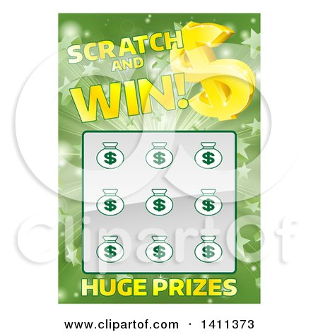 Clipart of a lottery instant scratch and win design royalty free clipart of a lottery instant scratch and win design royalty free vector illustration by atstockillustration sciox Images