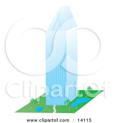Tall Glass Highrise Building Clipart Illustration by Rasmussen Images