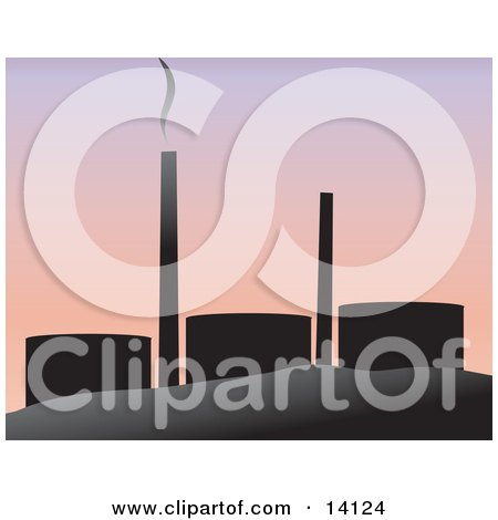 Smoke Rising From an Oil Refinery Clipart Illustration by Rasmussen Images