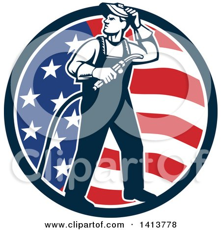 Clipart Welder Working On A Structure - Royalty Free Vector ...
