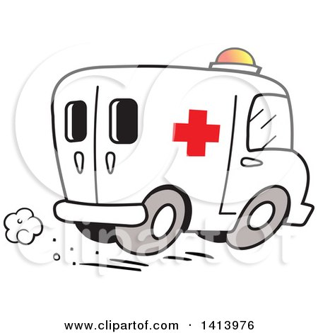 Royalty-Free (RF) Ambulance Clipart, Illustrations, Vector Graphics #1