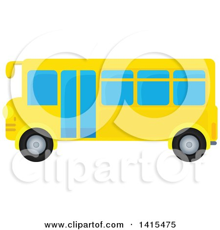 Clipart of a Yellow School Bus - Royalty Free Vector Illustration by visekart