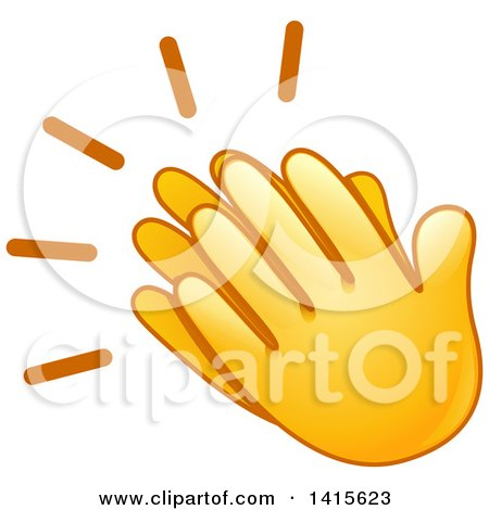 clipart of a pair of clapping emoji hands royalty free vector rh clipartof com clapping hands clip art free clipart clapping hands animated