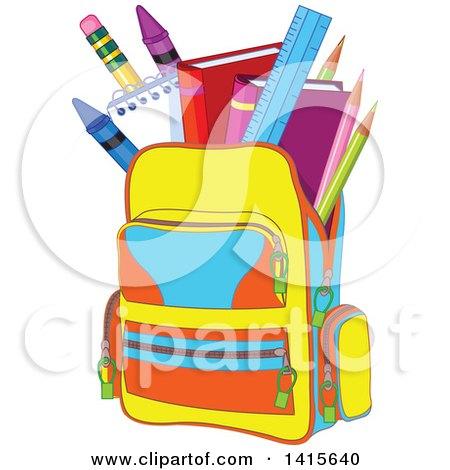 Backpack Full of School Supplies Posters, Art Prints