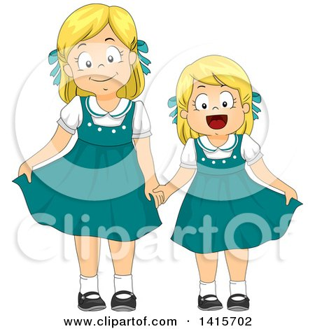 royalty free  rf  little sister clipart  illustrations Cartoon Baby Sitting Clip Art Little Girl Clip Art
