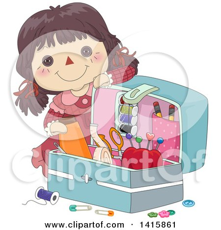 Clipart Doll Toy In A Chair With A Pillow On The Ground