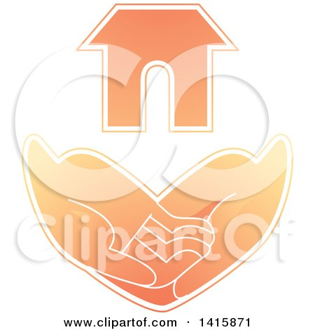 Clipart of a Pair of Hands Asking for Basic Needs, Such As Housing - Royalty Free Vector Illustration by BNP Design Studio