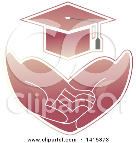 Clipart of a Pair of Hands Asking for Basic Needs, Such As Education - Royalty Free Vector Illustration by BNP Design Studio