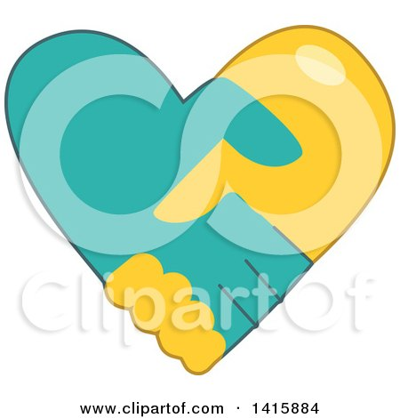 Charity Heart of Shaking Hands Posters, Art Prints