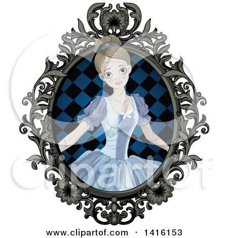 Halloween Zombie Cinderella Princess in an Ornate Frame Posters, Art Prints